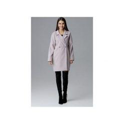 Płaszcz M625 Beż. Szare płaszcze damskie marki FIGL, m, z bawełny, eleganckie, z asymetrycznym kołnierzem, z długim rękawem. Za 299,00 zł.