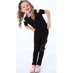 Legginsy dziewczęce: Legginsy z motylkami czarne NDZ8689