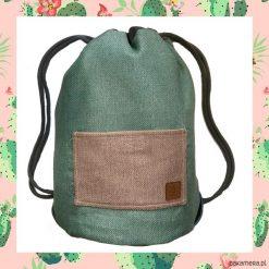 PINK CACTUS & LIGHT BLUE dwustronny plecak SACK. Szare plecaki męskie marki Pakamera. Za 165,00 zł.