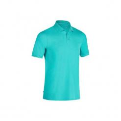 Koszulka polo do golfa 900 męska. Czarne koszulki polo marki GALVANNI, m, w kolorowe wzory, z bawełny. W wyprzedaży za 59,99 zł.