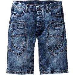 """Bermudy dżinsowe Loose Fit bonprix ciemnoniebieski """"stone used"""". Niebieskie bermudy męskie bonprix, z jeansu. Za 109,99 zł."""