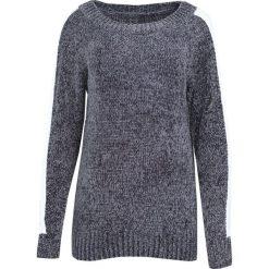 Szary Sweter Deep Eyes. Szare swetry klasyczne damskie marki Born2be, uniwersalny, z kontrastowym kołnierzykiem. Za 59,99 zł.