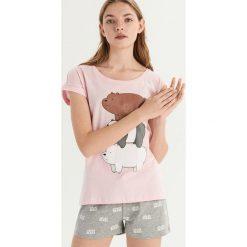 Piżama We bare bears - Różowy. Szare piżamy damskie marki Sinsay, l, z motywem z bajki. Za 49,99 zł.