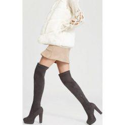 Szare Kozaki Last Dance. Szare buty zimowe damskie vices, na wysokim obcasie. Za 169,99 zł.