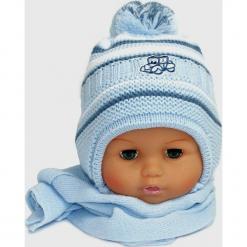 Czapka niemowlęca z szalikiem CZ+S 154F. Szare czapeczki niemowlęce Proman. Za 38,76 zł.