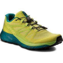 Buty SALOMON - Sense Ride 402501 28 V0 Sulphur Spring/Lime Green/Deep Lake. Czarne buty do biegania męskie marki Salomon, z gore-texu, na sznurówki, gore-tex. W wyprzedaży za 389,00 zł.