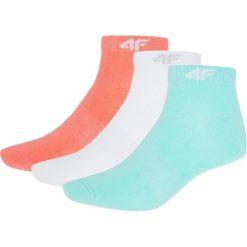 Skarpetki damskie: Skarpetki damskie (3 pary) SOD001 – biał+mięt+koral neon