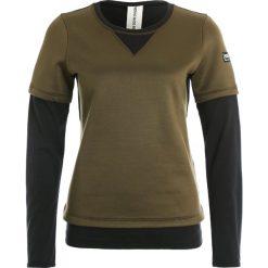 Bluzy damskie: super.natural MOUNTAIN DOUBLE LAYER Bluza brown charcoal/jet black