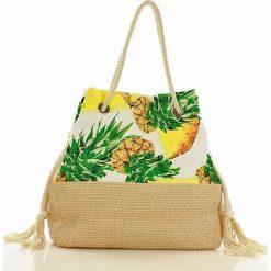 Torebka plażowa koszyk CHIC&PRETTY - TROPIKANA żółty. Żółte torby plażowe marki MAZZINI. Za 139,00 zł.