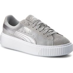 Sneakersy PUMA -  Suede Platform Safari 364594 02 Quarry/Quarry. Szare sneakersy damskie marki Puma, z materiału. W wyprzedaży za 239,00 zł.