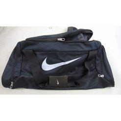 Torby podróżne: Nike Torba sportowa BA4829 001 Brasilia 6 Medium Duffel czarna [outlet]