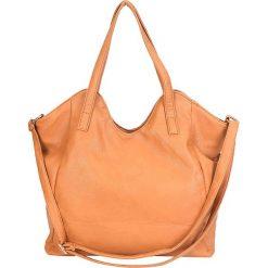 """Torebka """"Camilette"""" w kolorze brązowym - 35 x 34 x 11 cm. Brązowe torebki klasyczne damskie Spéciale Maroquinerie, w paski, z materiału. W wyprzedaży za 108,95 zł."""
