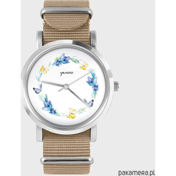 66687a0052ed6f Zegarek - Wianek, motyle - beżowy, nato - Brązowe zegarki damskie Pakamera.  Za 129,00 zł. - Zegarki damskie - Biżuteria i zegarki damskie - Biżuteria i  ...