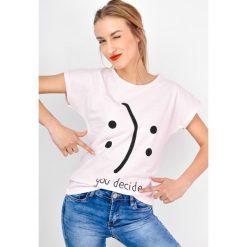T-shirty damskie: T-shirt smile z napisem