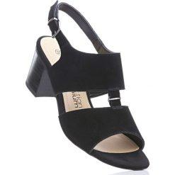 Rzymianki damskie: Sandały skórzane bonprix czarny