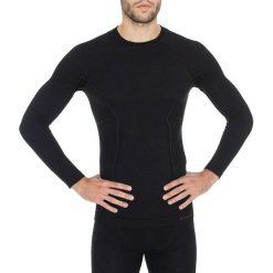 Koszulki sportowe męskie: Brubeck Koszulka męska z długim rękawem Active Wool czarna r. XL (LS12820)