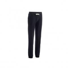 Spodnie regular Gym & Pilates 500 damskie. Czarne bryczesy damskie marki DOMYOS, z elastanu. Za 59,99 zł.