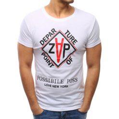 T-shirty męskie z nadrukiem: T-shirt męski z nadrukiem biały (rx2780)