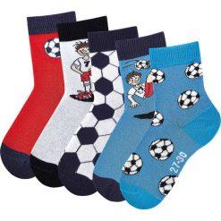 Skarpetki męskie: Skarpety dziecięce H.I.S (5 par) bonprix biały + niebieski + czerwony