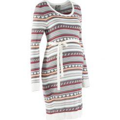 Sukienka ciążowa z dzianiny w norweski wzór bonprix dymny szary wzorzysty. Fioletowe sukienki ciążowe bonprix, w prążki, z dzianiny. Za 109,99 zł.
