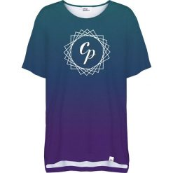 Colour Pleasure Koszulka damska CP-033 291 zielono-fioletowa r. uniwersalny. Różowe bluzki damskie marki Colour pleasure. Za 76,57 zł.