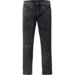 """Dżinsy ze stretchem Skinny Fit Straight bonprix czarny """"stone used"""". Czarne jeansy męskie relaxed fit bonprix, z jeansu. Za 79,99 zł."""