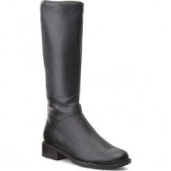 Kozaki JENNY FAIRY - WYL1624-1 Czarny. Czarne buty zimowe damskie Jenny Fairy, z materiału, na obcasie. Za 149,99 zł.