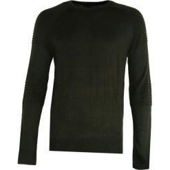 Ciemnozielony Sweter Sure To Fall. Czarne swetry klasyczne męskie marki Born2be, l, z aplikacjami, z dresówki. Za 64,99 zł.