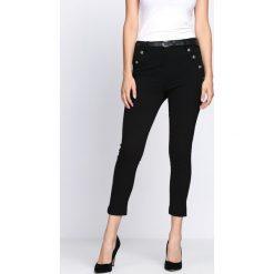 Spodnie damskie: Czarne Spodnie Diamond Dust