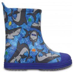 Crocs Kalosze Bump It Graphic Blue. Niebieskie kalosze chłopięce marki Crocs. W wyprzedaży za 149,00 zł.