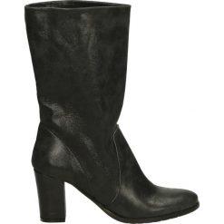 Kozaki - 8007 POL NERO. Czarne buty zimowe damskie marki Venezia, z materiału, na obcasie. Za 269,00 zł.