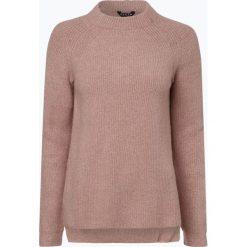 Review - Sweter damski, różowy. Szare swetry klasyczne damskie marki Review, l, z tkaniny, z okrągłym kołnierzem. Za 159,95 zł.
