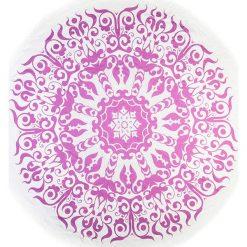 Kąpielówki męskie: Chusta hammam w kolorze różowo-białym – Ø 150 cm