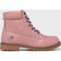 Fila - Buty. Różowe buty trekkingowe damskie Fila. Za 299,90 zł.