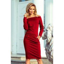 KLAUDIA Sukienka z odkrytymi ramionami - BORDOWA. Niebieskie sukienki na komunię marki Reserved, z odkrytymi ramionami. Za 149,99 zł.