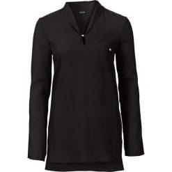 Długa bluzka bonprix czarny. Czarne bluzki asymetryczne bonprix, z długim rękawem. Za 74,99 zł.