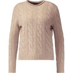 Swetry klasyczne damskie: Polo Ralph Lauren Sweter camel melange