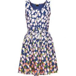 Sukienki: Sukienka bonprix niebieski z nadrukiem
