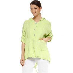 """Bomberki damskie: Lniana kurtka """"Bella"""" w kolorze zielonym"""