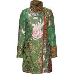 Płaszcze damskie: Płaszcz w żakardowy wzór bonprix zielono-kolorowy