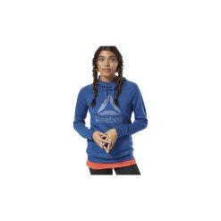 Bluzy Reebok Sport  Bluza z kapturem Workout Ready Logo. Niebieskie bluzy sportowe damskie Reebok Sport, xs, z kapturem. Za 229,00 zł.