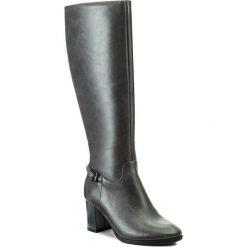 Kozaki KOTYL - 5515 Szary Lico. Szare buty zimowe damskie Kotyl, ze skóry. W wyprzedaży za 379,00 zł.