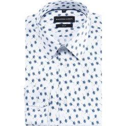 Koszula SIMONE KDWS000371. Białe koszule męskie na spinki marki Giacomo Conti, m, z bawełny, z klasycznym kołnierzykiem. Za 169,00 zł.