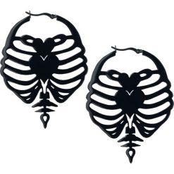 Kolczyki damskie: Steel Blackline® Ribcage Hoops Kolczyki czarny