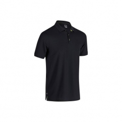 Koszulka polo do golfa 900 męska. Czarne koszulki polo marki INESIS, m, z elastanu. W wyprzedaży za 59,99 zł.