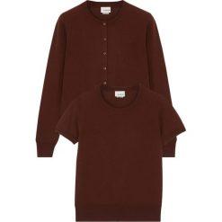 Swetry damskie: Zestaw w kolorze brązowym