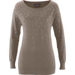 Swetry damskie: Sweter bonprix brunatny