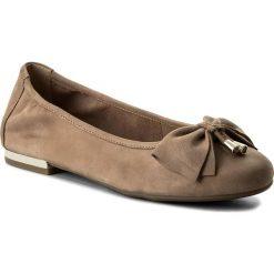 Baleriny CAPRICE - 9-22111-20 Beige Pearl 413. Brązowe baleriny damskie zamszowe marki Caprice. W wyprzedaży za 179,00 zł.