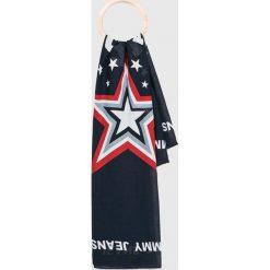 Tommy Jeans - Chusta. Szare chusty damskie Tommy Jeans, z bawełny. Za 159,90 zł.