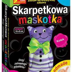 Przytulanki i maskotki: RANOK  Skarpetkowa maskotka, kotek – 15100081